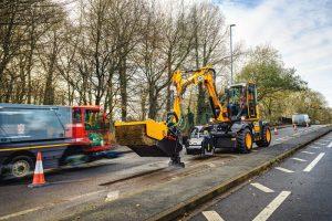 JCB Pothole - выставка дорожного строительства
