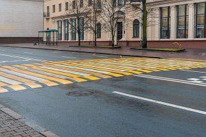 пішохідний перехід - виставка будівництва доріг